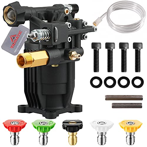 YAMATIC Max 3200 PSI New Horizontal Pressure Washer Pump 3/4' Shaft 2.5 GPM Replacement Power Washer Pump Fit SIMPSON MSH3125 MS60921 MSH3224 90029 90028 50002 RY80588A G3025OH 020242 RMV25G30-EZ