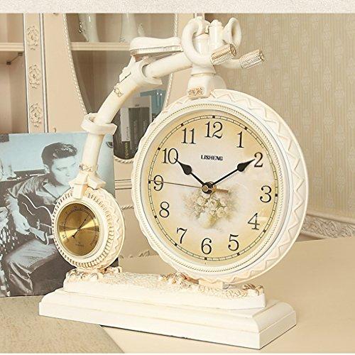 Edge to table Clock European Style Retro Bell Bike Creative Clock Fashionable Clock European Clock Decoration Clock ( Color : C )