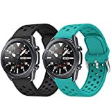 AOTVIRIS Compatible con Correa Galaxy Watch 3 45mm/Galaxy Watch 46mm/Gear S3 Frontier/Classic 22mm Silicona Banda Deportiva Pulsera para Huawei Watch GT Sport/GT 2 46mm/GT 2e/Ticwatch Pro