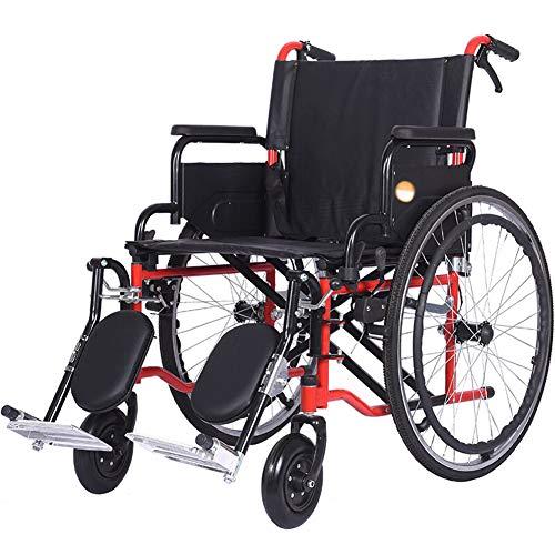 WPOSD Faltbarer Rollstuhl Mit rutschfest Armlehnen,leichtgewichtrollstuhl Drive Medical Metallic, Transportrollstuhl Reiserollstuhl, Sitzbreite 51cm,belastbarkeit 160kg
