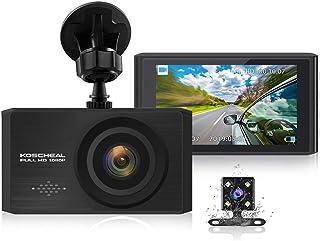 """KOSCHEAL Dash Cam 1080P Full HD, Cámara de Coche 3"""""""