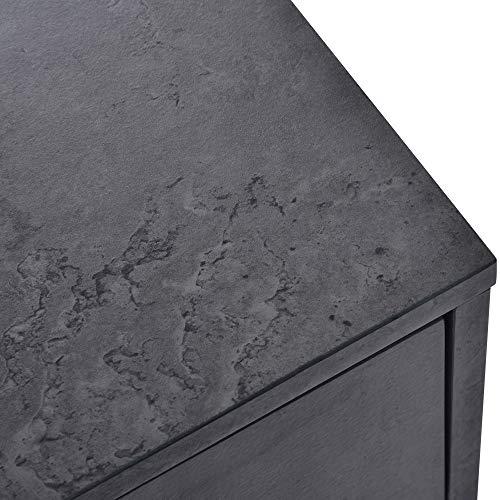 Gona Mueble aparador multiusos con estante abierto, color blanco y gris
