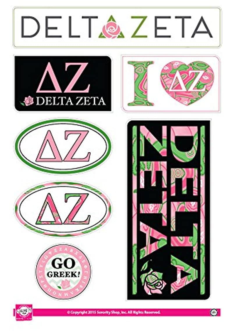 Delta Zeta - Sticker Sheet - Lifestyle Theme