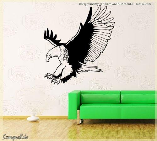 Sunnywall.de Wandtattoo Wandaufkleber Adler Vogel Eagle Größe Größe 2