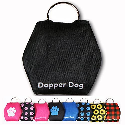 Dapper Dog - Dog Tag Silencer with Tag Ring (Black)