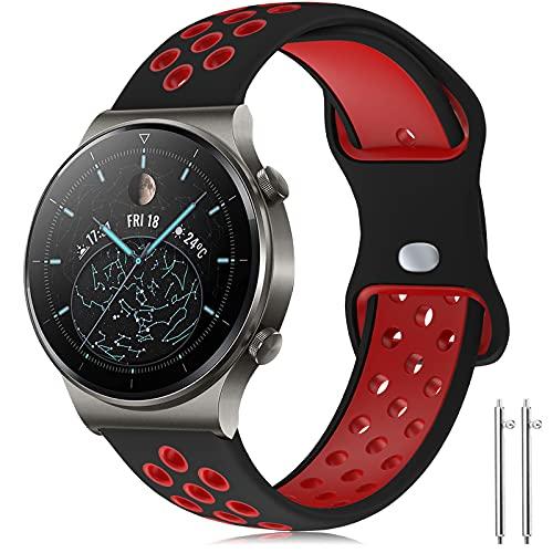 Compatible con Huawei Watch GT2 Pro Correa/Huawei Watch GT2 46mm Correa, 22mm Silicona Pulsera Deportiva Correa para Huawei Watch 3/Pro/Huawei Watch GT 2/GT Fashion/Sport/Active/Elegant/Classic