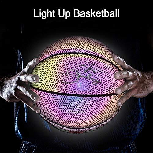 Cuttey - Balón baloncesto luminoso sin pilas poliuretano