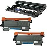 Compatible DR2200 Tambor & 2X TN2220 Tóner para Brother DCP-7055 DCP-7060D DCP-7065DN HL-2130 HL-2132 HL-2240 HL-2240D HL-2250DN HL-2270DW MFC-7360N MFC-7860DW FAX-2840 - Negro, Alta Capacidad