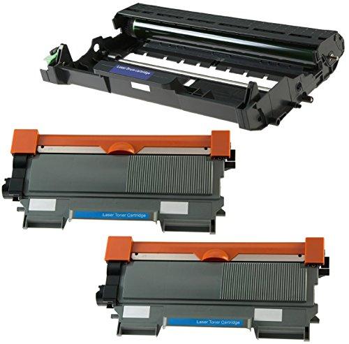 Trommeleinheit DR2200 & 2X Toner TN2220 kompatibel für Brother DCP-7055 DCP-7060D DCP-7065DN HL-2130 HL-2132 HL-2135W HL-2240 2240D 2250DN 2270DW MFC-7360N 7860DW FAX-2840 - Schwarz, hohe Kapazität