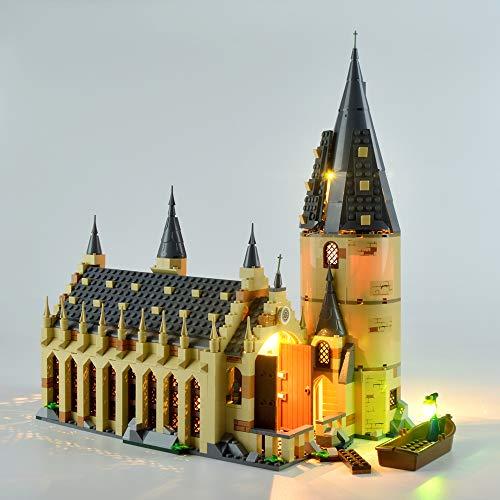 Kit de iluminación LED para Harry Potter Hogwarts Great Hall Castle Toy, idea de regalo para los fans de Wizarding World, juego de construcción para niños compatible con Lego 75954 (no incluye modelo)