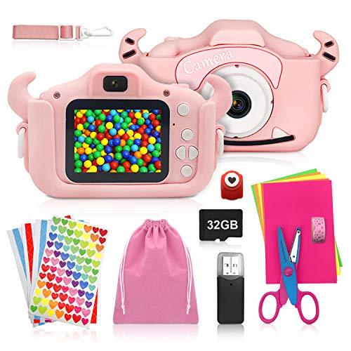 ShengRuHai Cámara de Fotos Digital para Niños, Rosa