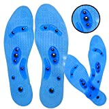 Carespot Gel Acupressure Magnetic Insoles/Inserts for Foot/Feet Therapy, Massaging Insoles for Men & Women (Female)
