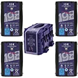 IDX Battery Bundle Includes 4 Pack DUO-C198 191Wh High-Load Battery with D-Tap Advanced, Standard D-Tap & USB Port VL4S 4-Channel Simultaneous V-Mount Li-Ion Charger