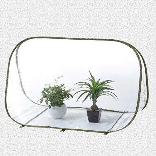 LouisaYork Mini invernadero de jardín, cubierta portátil pequeña para plantas de jardinería, tienda de campaña portátil con cubierta de PVC transparente para jardín al aire libre patio