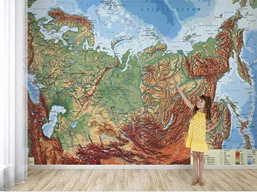 Abihua Wandbilder 3D Wallpaper Fototapete Benutzerdefinierte Wohnzimmer Wandbild Geologische Karte Malerei Sofa Tv Hintergrundbild Für Die Wand 3D 200Cm X 100Cm