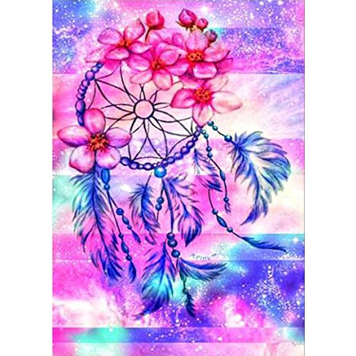 DIY 5D Diamond Painting by Number Kit,Diamond Painting Kits for Adults Full Drill Fox Rhinestone Embroidery Cross Stitch Supply Arts Craft Canvas Home Kitchen Hotel Salon Wall Decor 12x12 inches