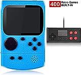 Kiztoys Handheld Spielkonsole,400 Klassische Spielen, 2.8-Zoll-LCD Bildschirm Retro-spielkonsole...