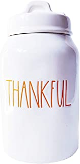 Rae Dunn Artisan Collection by Magenta Orange Thankful Cannister
