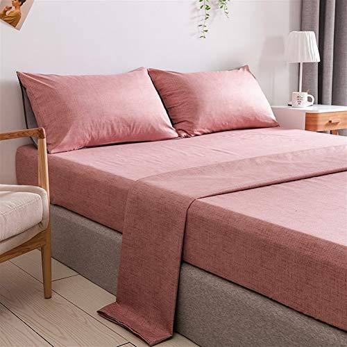 nobrand Home Bed Linings Fogli Linee Bedding Set Casa Texture Bedding Set Biancheria da Letto di Student Dormitorio Studentesco (Color : Blue, Size : US-T/UK-S99x190x35cm)