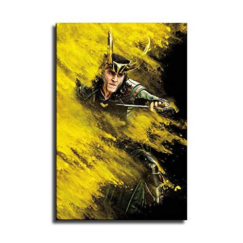 Loki Thor Ragnarok - Poster su tela e stampa artistica da parete, motivo: famiglia moderna