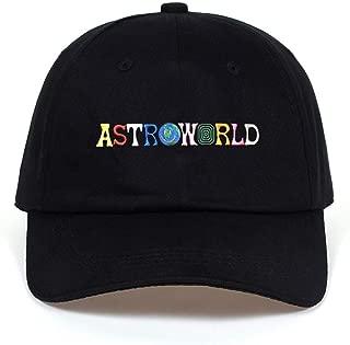 HXXBY Hat Embroidery Text Astroworld Baseball cap字母刺绣棒球帽纯棉软顶鸭舌帽ASTROWORLD Baseball Cap hat
