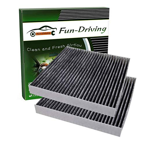 FD182 Cabin air filter for Honda Civic,CR-V,CR-Z,Fit,HR-V,Insight,Replace CF11182,CP182,80292-TF0-G01 (Activated Carbon,2 Pack)