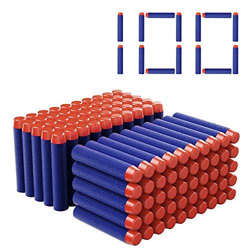 Balas Nerf 100 DEWEL Dardos Nerf de 7.2cm
