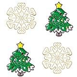 TOYANDONA 4 Pezzi Spille Natalizie Spilla Albero Fiocco di Neve Distintivo Fermaglio Spilla Spille Natale Festa di Natale Regali per Le Donne Ragazze Bambini