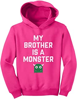 Tstars My Brother is a Monster Funny Siblings Halloween Toddler Hoodie