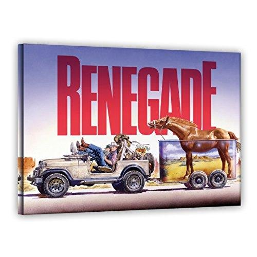 Terence Hill Bud Spencer Leinwand - Jeep - Renegade - Renato Casaro Edition (80 x 60 cm)