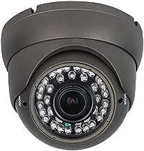 Analog Anpviz CCTV Camera HD 1080P 4-in-1 (TVI/AHD/CVI/960H CVBS) Security Dome Camera,2.8-12mm Varifocal Lens Video Surveillance,Weatherproof Metal Housing 36 IR-LEDs Day& Night Indoor/Outdoor(Grey)