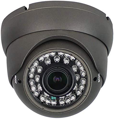 Anpviz Analog CCTV Camera HD 1080P 4-in-1 (TVI/AHD/CVI/960H CVBS) Security Dome Camera,2.8-12mm Varifocal Lens Video Surveillance,Weatherproof Metal Housing 36 IR-LEDs Day& Night Indoor/Outdoor(Grey)