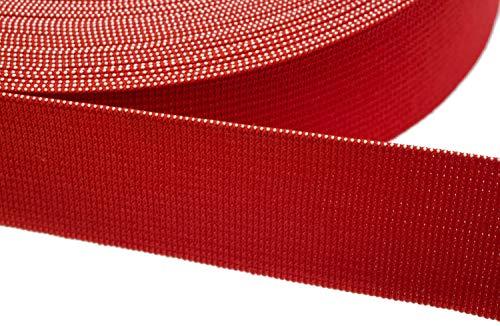 Jajasio Gummiband zum Nähen 15mm Breit in 20 Farben 06 - rot 12 Meter
