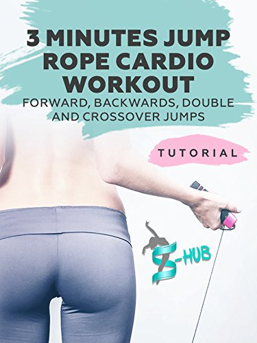 3 minutes jump rope cardio workout. Forward, Backwards, Double and Crossover Jumps.