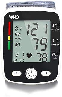 Life HS Esfigmomanómetro De Muñeca, Inteligente Automático Esfigmomanómetro De Voz Pantalla LCD Grande Seguridad Y Protección Ambiental 2-Usuario con Capacidad De Memoria 99