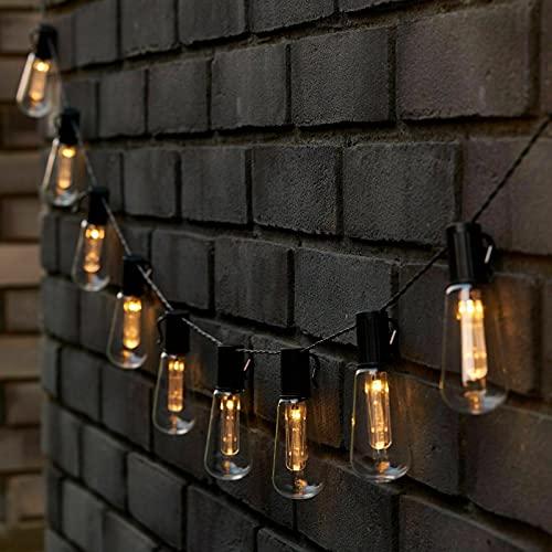 La secuencia solar enciende el jardín al aire libre, prenda impermeable de las luces colgantes IP65 de 10 LED Edison