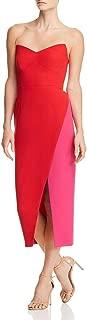 Jill Jill Stuart Womens Crepe Colorblock Cocktail Dress Red 12