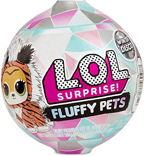 LOL Surprise 560487E7C Fluffy Pets, Winter Disco, 9 sorprese, One Random