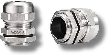 Hardwarelager Waterdichte kabelklierconnector IP68 304 RVS INOX metrische kabel M6 M8 M10 M12 M14 M16 M18 voor 3-6,5 mm 4-...