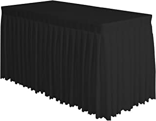 Surmente Tablecloth 14 ft Polyester Table Skirt for Weddings, Banquets, or Restaurants(Black) … …