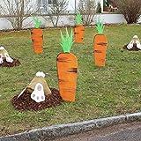 XeinGanpre - Lapin Carotte Yard Art extérieur Jardin Pelouse Piquets en Bois Décoration Lapin Patio Yard Paysage, Ornements de Lapin Carotte Extérieure (Carotte)