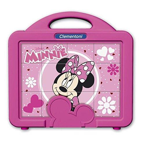 Clementoni 41340 - Valigetta con Cubi Minnie Club, 12 Pezzi