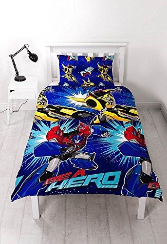 Bettbezug für Einzelbett, offizielles Lizenzprodukt, Transformers Optimus Prime, Blau
