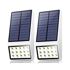 High Efficient Solar Panel:Adopted monocrystalline silicon solar cells, the conversion rate reaches up to 20.5%. It has 15% electricity more than other products in the same solar light time, Made with high impact ABS lamp body that has high-temperatu...