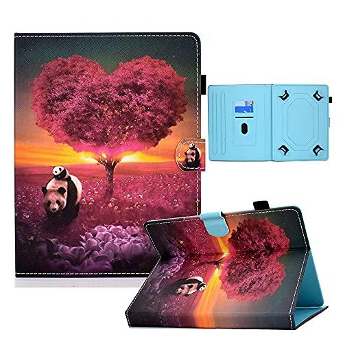 Funda universal para tablet de 9 a 10,1 pulgadas, funda protectora para Fire HD 10 Huawei Mediapad T3/T5 10 Fusion5 10.1 pulgadas, iPad 10.2 2019 Galaxy Tab A 10.1/Tab E 9.6 Lenovo Tab 3 (Panda)