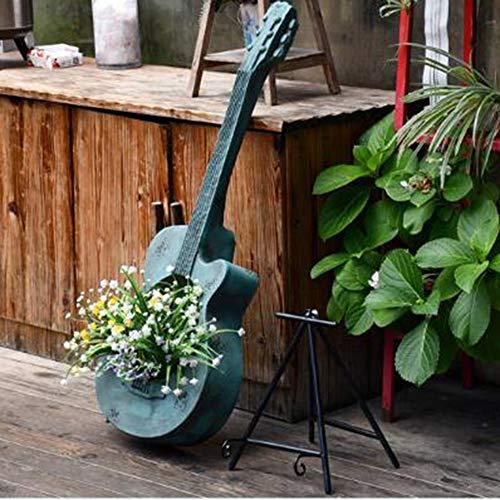Adornos De Guitarra Vintage Piano Antiguo Decoración De Jardín Balcón Creativo Al Aire Libre Diseño De Granja Paisaje De Jardinería- 38 * 30 * 102 Cm Blue