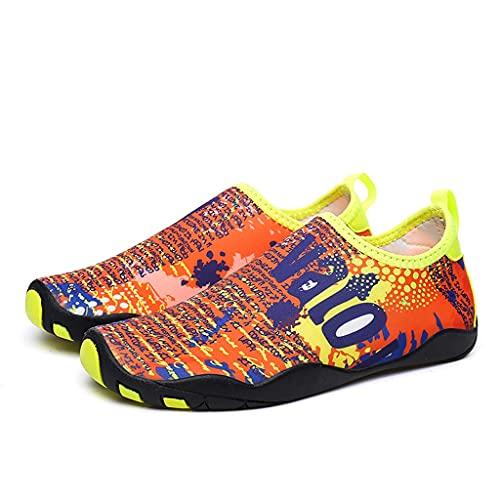 Hwqsw Zapatos de Agua de natación Hombres y Mujeres Playa Camping Zapatillas de Camping Adulto Unisex Plano Soft Walking Lover Shoes Zapatillas de Deporte (Size : 45~46)