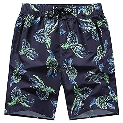 Amazon - 40% Off on  Men's Swim Trunks with Mesh Lining Pattern Beach Shorts Bathing Suits