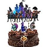 Video Game Birthday Party Supplies for Game Fans, 5Pcs DIY Cake Decorations Topper...