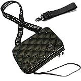 Handy Umhängetasche - Mode Damen Schultertasche Klein Geldbörse Crossbody Handtasche - Hart ABS+pc Kofferform mit Verstellbar Abnehmbar Schultergurt für Handy unter 6.5 Zoll (Rhombus Schwarz)
